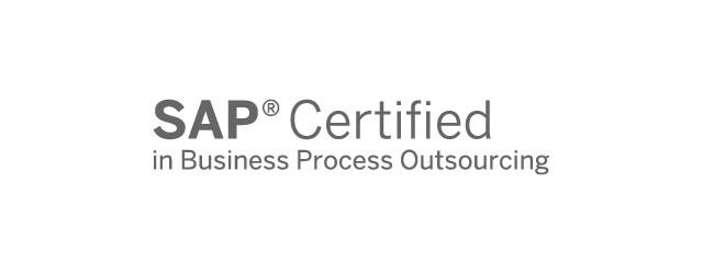 Abbildung Logo SAP-Zertifikat für Business Process Outsourcing